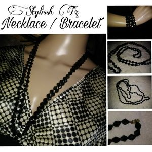 Jewelry - 🌸Black Stone Necklace 28 inches long